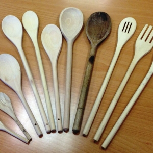 SEE Approach woodiness of the wooden spoons