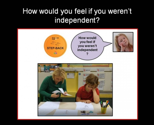 Step-back a whole school approach to independence